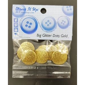 cz.모양단추/BIG GLITTER DOTS GOLD 4408